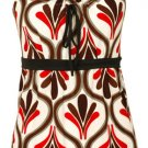 Ruched Neckline Top - Red