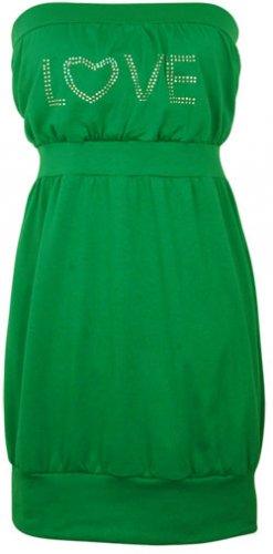 Rhinestone Tunic - Green