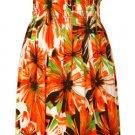 Strapless Dress - Orange