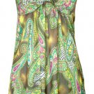 Beaded Print Halter Dress - Paisley