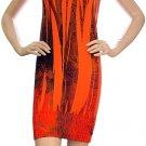 Striped Babydoll Dress Orange