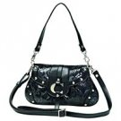 Embassy Black Faux Snake Skin Purse