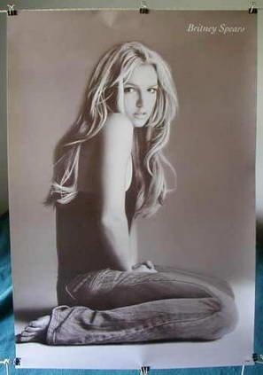 Britney Spears casual b&w poster denim pre-KFed sexy