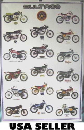 Bultaco motorcycle history POSTER 23.5x34 Spain vintage motorbikes Cemoto