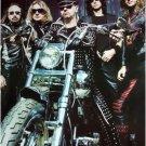 Judas Priest on motorcycle chopper matte POSTER 23.5 x 34 Rob Halford metal band