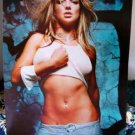 Britney Spears ultra sexy midriff poster dark green sultry wow