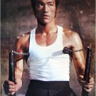 Bruce Lee white tank top nunchucks POSTER 21 x 31 martial arts karate master