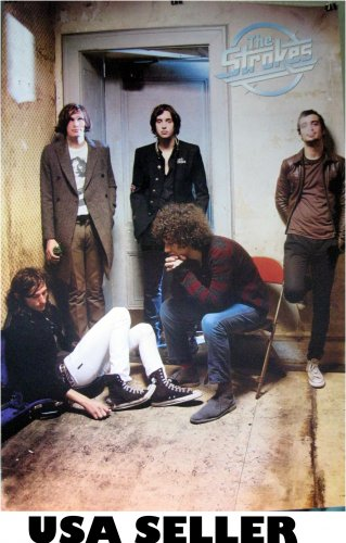 The Strokes in room poster 23.5x34 New York alt rock group SHIP FROM USA