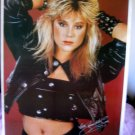 Samantha Fox sexy poster red bkgrnd 80s OOP rare wow