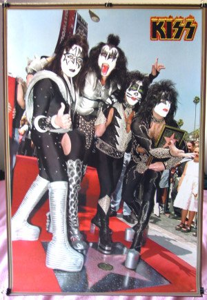 Kiss star on Hollywood walk POSTER 23.5 x 34 Ace Frehley Gene Simmons
