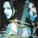Marilyn Manson & Twiggy Ramirez poster 31x21 colorful two heads SHIP FROM USA