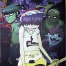 Gorillaz red-purple-green great POSTER 23.5 x 34 SHIP FROM USA Gorrillaz