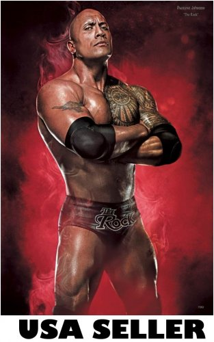 Dwayne Johnson The Rock in wrestling regalia POSTER 23.5 x 34 also movie star