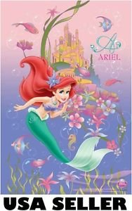 Little Mermaid poster Ariel pink POSTER 23.5 x 34 Disney princess SHIP FROM USA