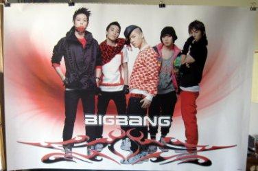 Bigbang horiz red poster Korean boy band Big Bang Top G-Dragon T.O.P. Tae Yang