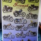 Triumph Motorcycles history POSTER 1940-82 18 models #2