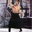 Bruce Lee nunchucks stony grey bkgrnd POSTER 21 x 31 martial arts karate
