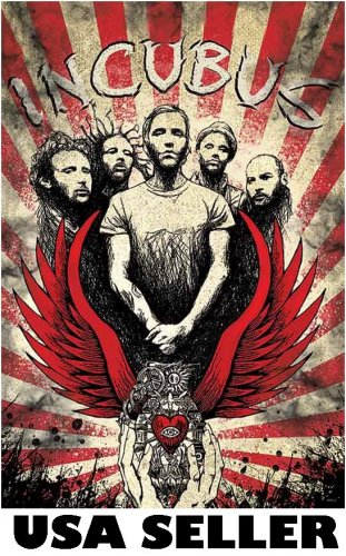 Incubus Mao-style red POSTER 23.5 x 34 Brandon Boyd & SHIP FROM USA