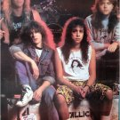 Metallica with long hair POSTER 23.5 x 34 as they looked in early days