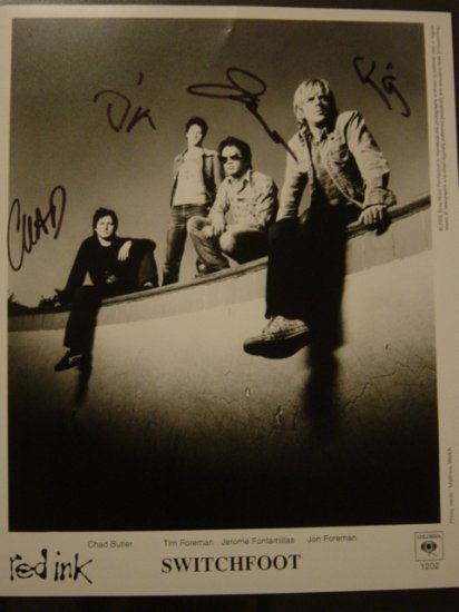 Switchfoot 8x10 Signed
