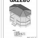 Octagon 8-sided Oblong gazebo building plans blueprints 10' x 16' do it yourself DIY