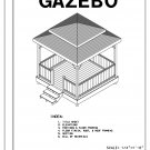 4-sided gazebo double hip Roof building plans blueprints 10' do it yourself DIY