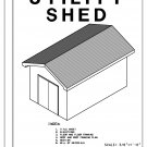 10' x 16' Shed with Gable roof building plans blueprints do it yourself DIY