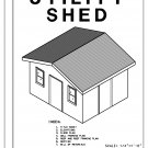 14' x 12' Utility Shed building plans blueprints do it yourself DIY