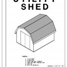 10' x 12' Gambrel Roof Barn Shed building plans blueprints do it yourself DIY