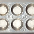 set of 2  six cup muffin baking pans