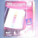 Avery® Ready Index® Table of Contents Dividers 11186, 8-Tab, 6 Sets