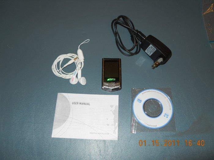 "8GB 1.8"" screen MP3 MP4 Player FM Radio USB Flash Music Movie - new"