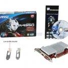 MSI R4350-MD512H/D3 Radeon HD 4350 512MB 64-bit DDR3 PCI Express 2.0 x16 HDCP Ready Video Card