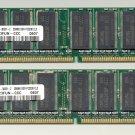 Samsung memory 512MB (2x 256MB) PC3200 400 184-pin DDR RAM M368L3223FUN-CCC