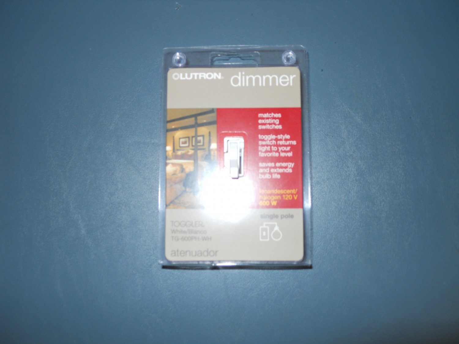 Lutron TG-600PH-WH Toggler 600W Preset Dimmer light switch - White