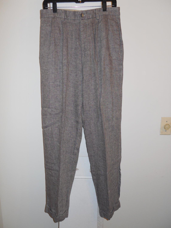 Nautica rigger 100% linen pants men's 32x32