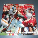 NFL Kansas City Chiefs team 1998 wall calendar HOF marcus allen Derek Thomas