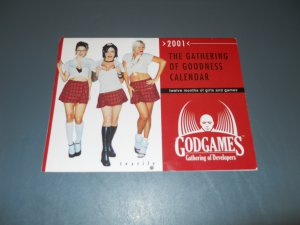 The Gathering of Goodness 2001 wall calendar GODGAMES girls and games