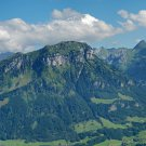 Wall size art 8' x 18' image Frontalpstock Mountain Glarus Alps Switzerland