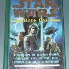 Star Wars The glove of Darth Vader Lost city of the Jedi Zorba the Hutt's revenge hardcover book