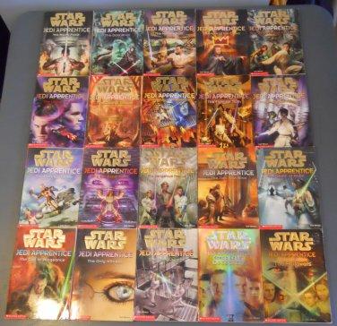Star Wars Jedi Apprentice chapter book books lot series 1-18 + SE 1-2 20 paperbacks (a)