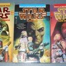 Star Wars Bounty Hunter wars trilogy books book novel novels lot series 3 paperbacks (a)