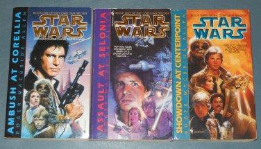 Star Wars The Corellian Trilogy books book novel novels lot series 3 paperbacks (a)
