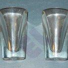 Hazel Atlas clear oversized 2oz shot glasses - set of 2