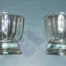 Jeanette Glass - clear - unknown pattern, 4oz shooters - set of 2