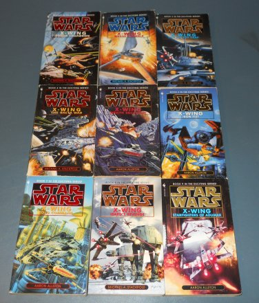 Star Wars X-Wing books book novel novels lot series 9 1st edition paperbacks (c)