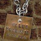 Hand Stamped Brass Necklace
