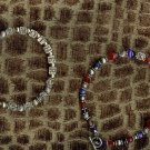 Triple strand personalized sterling silver bracelet