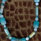 Teardrop pendant turquoise necklace