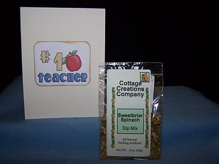 TEACHER APPRECIATION CARD w/DIP MIX